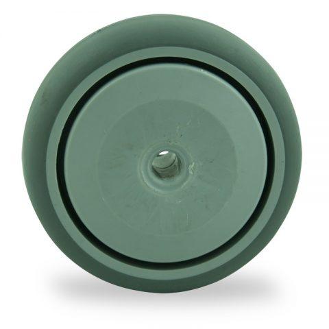 Roue 75mm  pour chariots de caoutchouc thermoplastique couleur gris,roulement à billes de precision