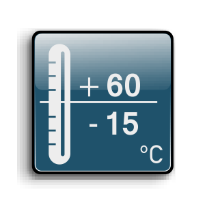 Working temperature from -15C up to +60C